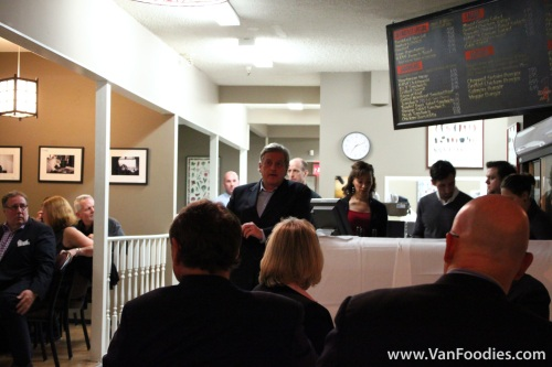 Ian Tostenson, H.A.V.E.'s Board member, gave a speech before dinner
