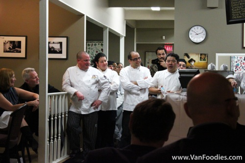 Chef Alex Chen and other Vancouver chefs who helped put together a wonderful dinner
