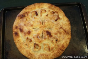 Birthday Apple Pie
