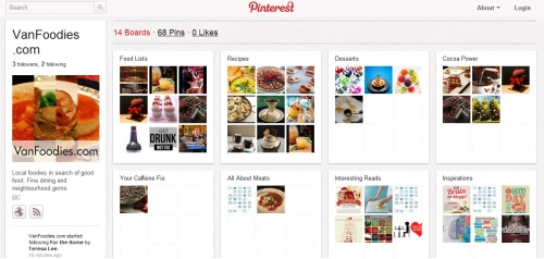 VanFoodies on Pinterest