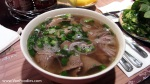 Cooked Beef with Rice Noodle Soup