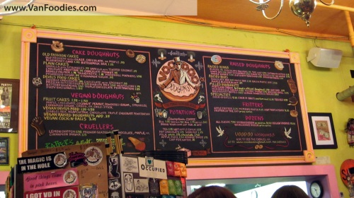 Menu board - lots to choose from