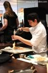 Torching aburi sushi