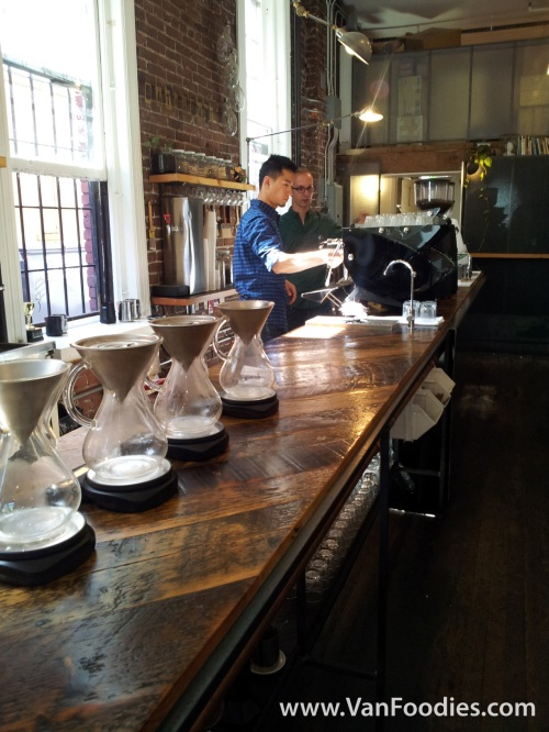 Lab-like coffee shop