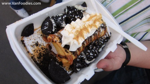 Oreo Caramel Deep Fried Cheesecake