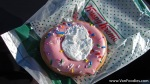 Strawberry Iced Birthday Doughnut