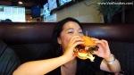 Joyce eats ranch burger