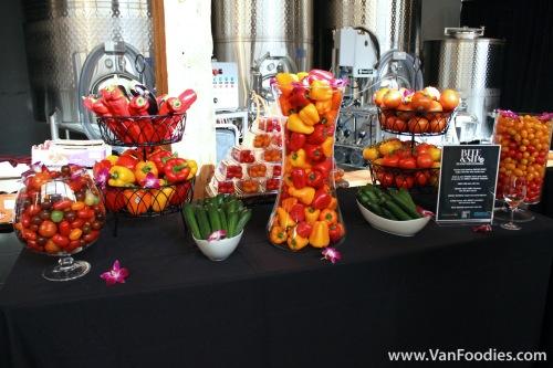 Greenhouse veggie display