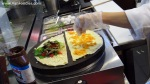 Making two crepes at the same time