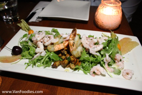 Prawn, Shrimp & Chanterelle Mushroom Salad