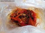 1/2 lb of crawfish & 1/2 lb of shrimp
