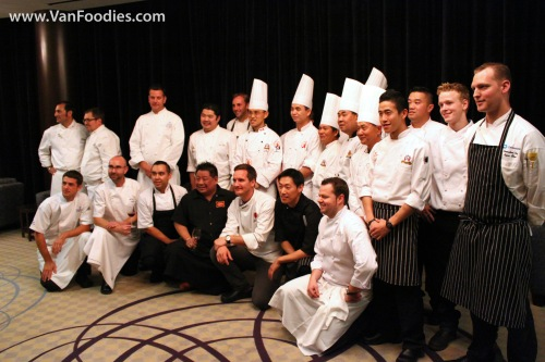 All chefs pose for a photo