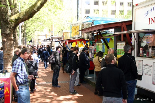 Food carts cluster