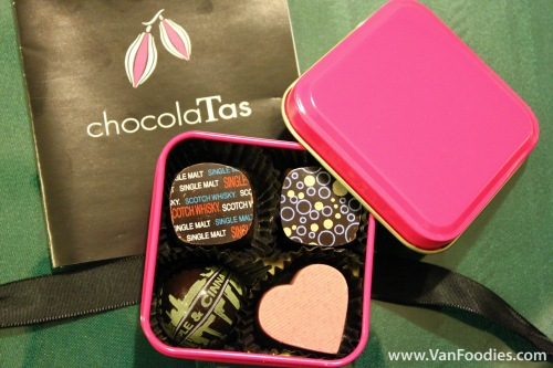 4 piece chocolate tin