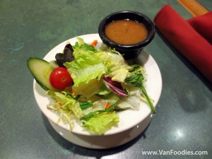 Salad with Shogun Dressing