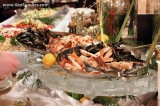 Cold seafood display