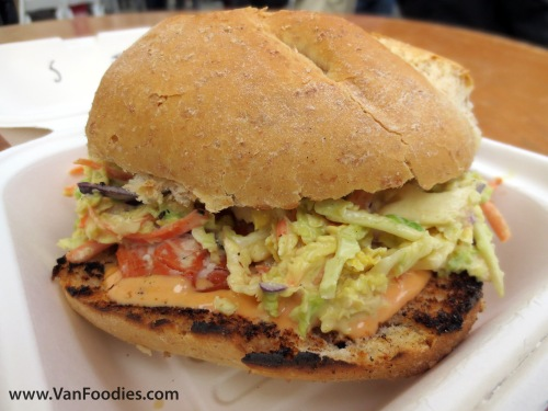 Hot Smoked Salmon Sandwich