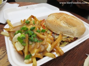 Hot Smoked Salmon Sandwich with Poutine