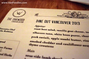 Dine Out at Oakwood Canadian
