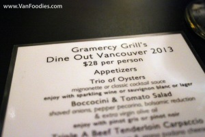 Dine Out at Gramercy Grill