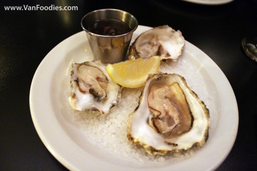 Trio of Oysters of the Day