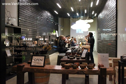Tasting at O5 Tea Bar