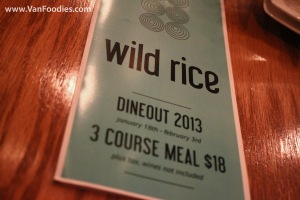 Dine Out at Wild Rice New Westminster