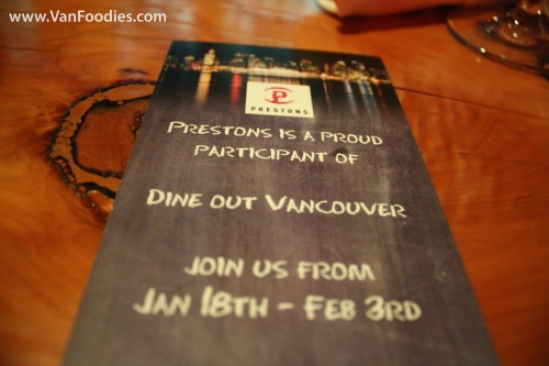 Dine Out at Prestons