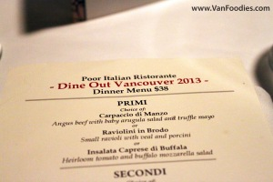 Dine Out at Poor Italian