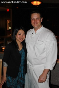 Joyce with Mosaic Executive Chef Thomas Heinrich
