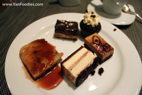 Sampling chocolate desserts