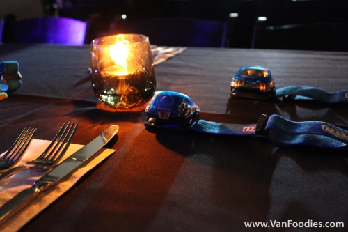 Headlamp waiting at the table