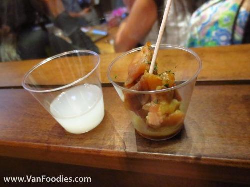 Unfiltered Sake with Chicken
