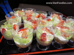White Wine Jelly with Fruit and Sponge Cake