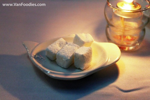 Home made marshmallows