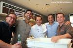 Famoso's founders Jason Allard & Justin Lussier, Don Letendre, MC of the evening, Roberto Caporuscio
