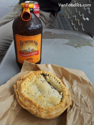 Aussie Pie with Ginger Beer