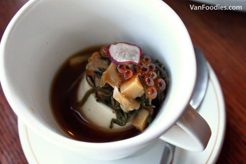 Seafood Marinated Mekabu Cold Tofu