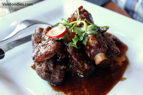 Pork Ribs with balsamic vinegar, sweet & sour sauce