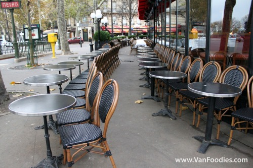 Cafe facing out in Paris, France