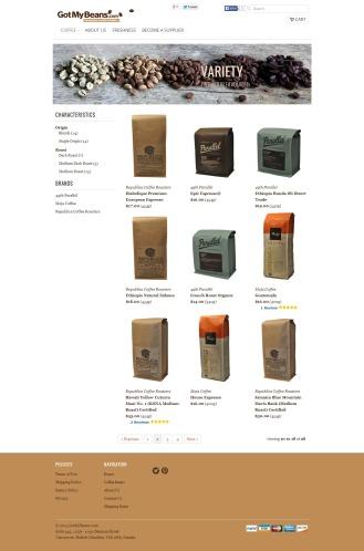 GotMyBeans.com Product Listing