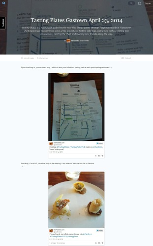 Tasting Plates Gastown 2014 on Storify