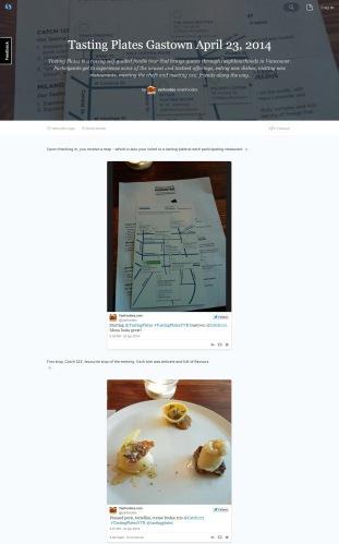 Tasting Plates Gastown 2014 on Storify