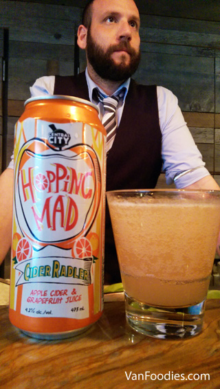 Hopping Mad Cider Radler