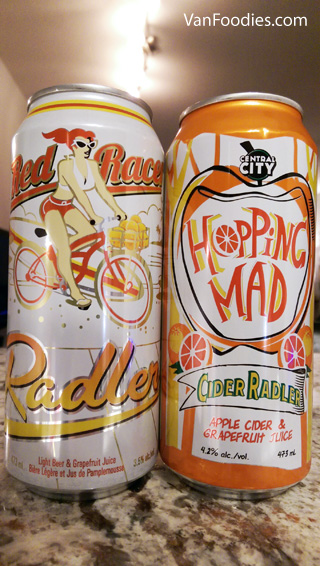Red Racer Radler & Hopping Mad Cider Radler