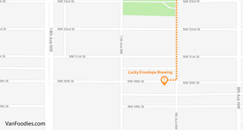 Seattle Ballard Brewery Stop 1 - Lucky Envelope