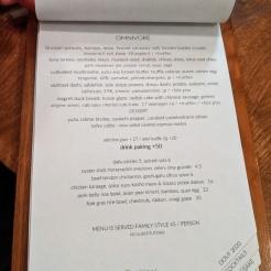 PiDGiN Dine Out 2020 Menu - Omnivore