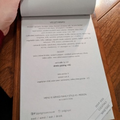 PiDGiN Dine Out 2020 Menu - Vegetarian